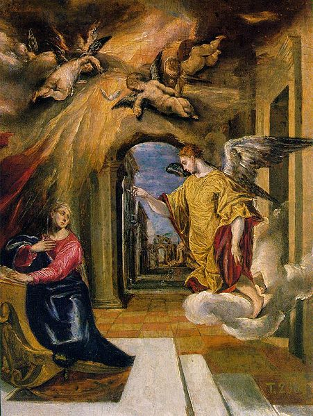 Annunciation by Greco