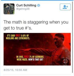 Schilling extremism tweet